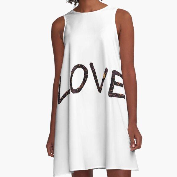 #love, #careverymuchfor, #feeldeepaffectionfor, #holdverydear, #adore, #thinktheworldof, #Amur, #Cupid A-Line Dress