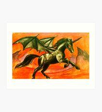 Demon Unicorn Art Print
