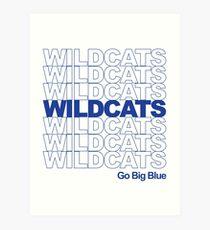 Wildkatzen danken Ihnen Tasche Kunstdruck