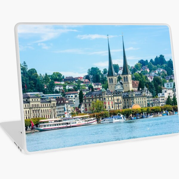 View of historic Luzern city center Laptop Skin