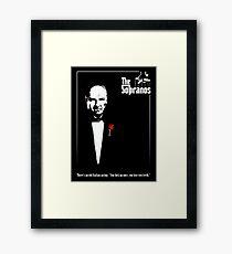 The Sopranos (The Godfather mashup) Framed Print
