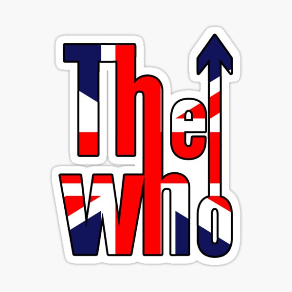 The Who in Union Jack Sticker