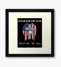 Stand For The Flag And Kneel For The Cross Framed Print