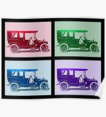 1909 Packard Limousine Quad Poster
