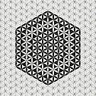 Flower of Life Black White 2 by Cveta