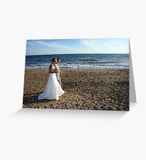 A stroll along the beach Greeting Card