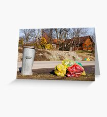 Earth day cleaning Greeting Card
