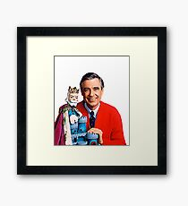 Mister Rogers and King Friday Cartoons Framed Print