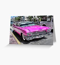 Pink Cadillac - Collins Ave - Miami Greeting Card