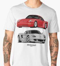 Supercar Evolution (red & silver) Men's Premium T-Shirt