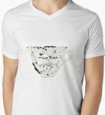 Flowers Cup Men's V-Neck T-Shirt