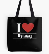 I Love Wyoming - For Passionate Wyomingite or Wyoming Residents Gift Tote Bag