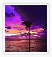 Hawaiian beach sunset Sticker