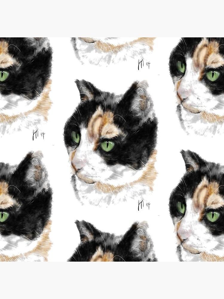 Serious Green Eyes Kittie Cat  by LITDigitalArt