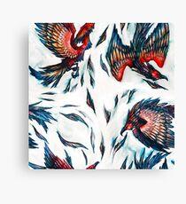 Majestic Flying Fantasy Phoenix Bird Pattern  Canvas Print
