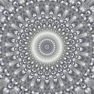 Silver, Bronze, and Ivory Mandala by Kelly Dietrich