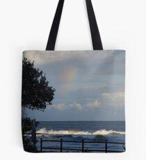 Rainbow silhouette Tote Bag
