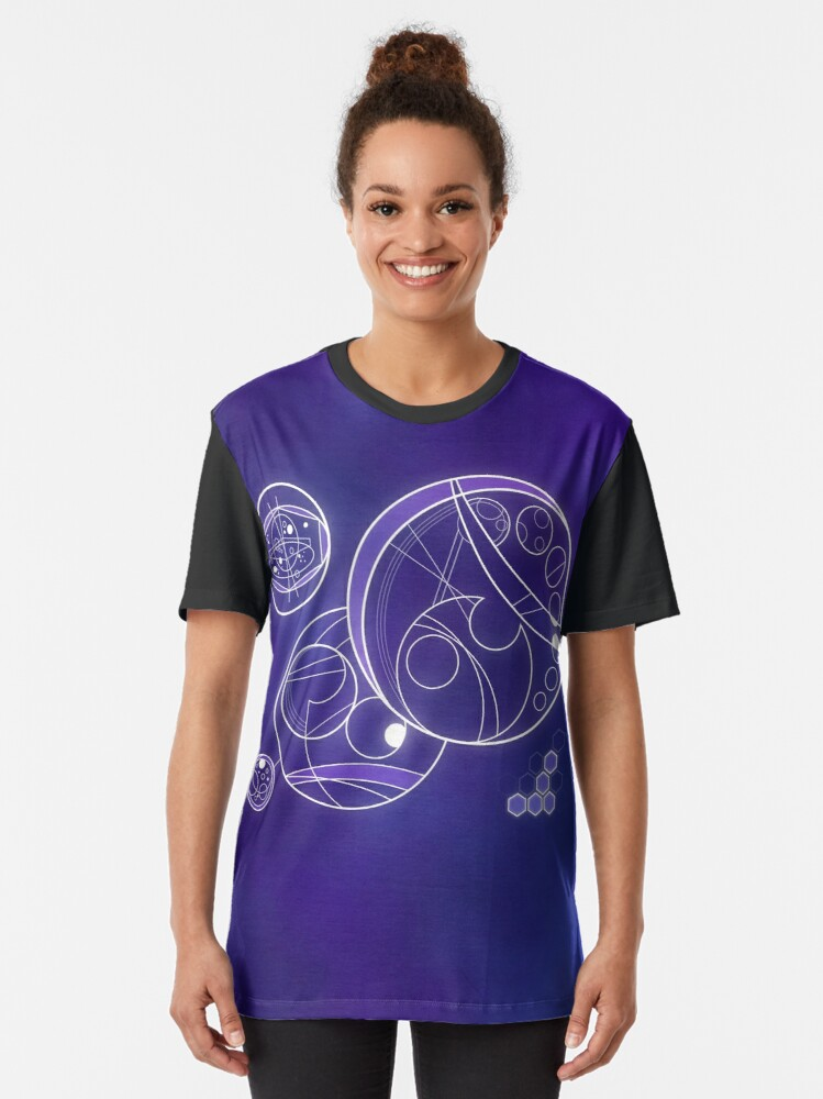Alternate view of TimeSpace Ship Interface Graphic T-Shirt