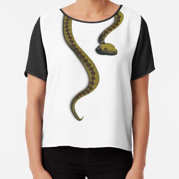 Snake Drape  Chiffon Top