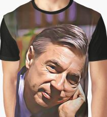 Mister Rogers Pondering Graphic T-Shirt