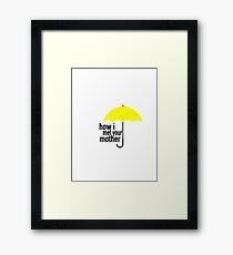 how i met your mother umbrella Framed Print
