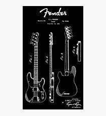 Fender Guitar 1953 Patent Blueprint Art Photographic Print