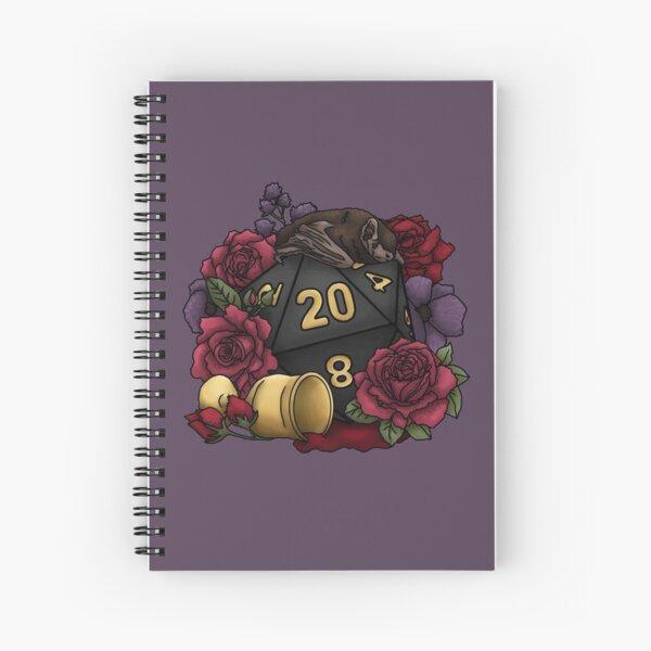 Vampire D20 Tabletop RPG Gaming Dice Spiral Notebook