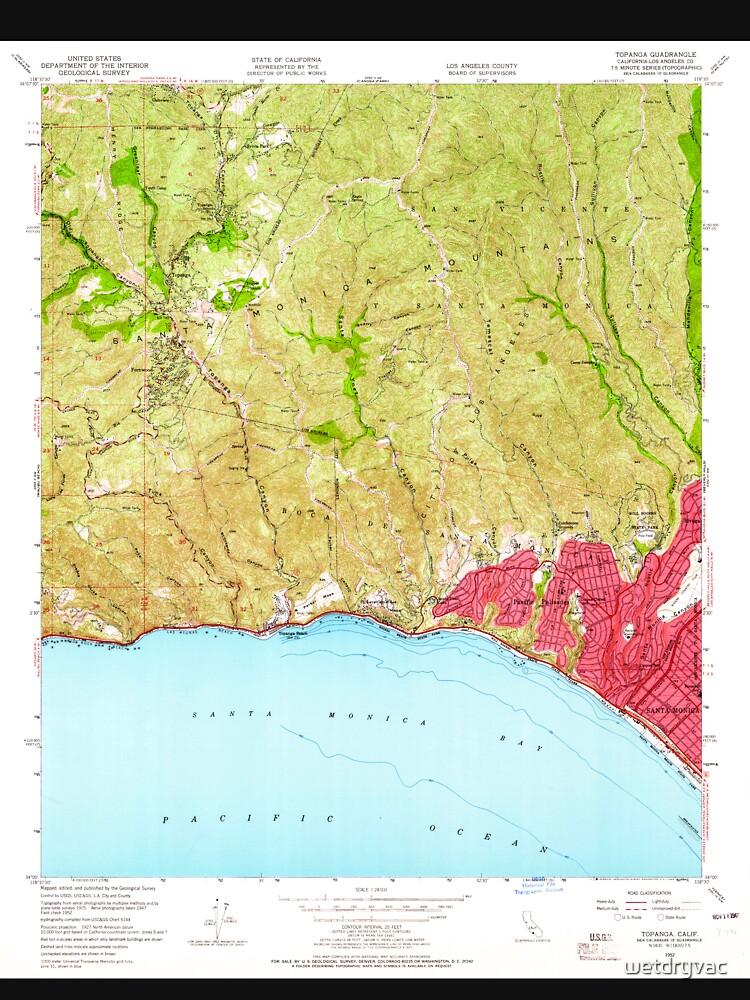 USGS TOPO Map California CA Topanga 300897 1952 24000 geo von wetdryvac