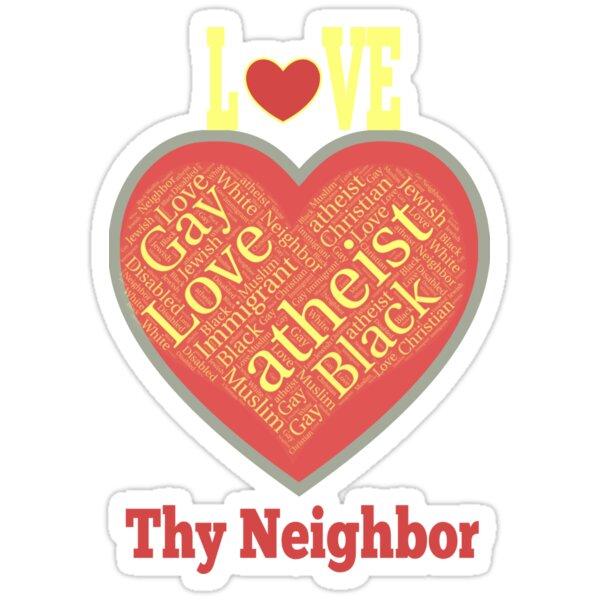 Love Thy Neighbor word salad heart