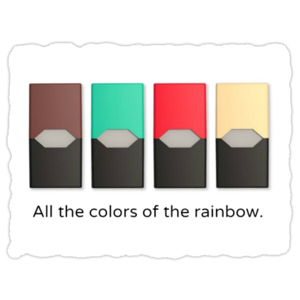 "Juul - ""All the colors of the rainbow"""