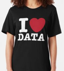 I Heart Data Slim Fit T-Shirt