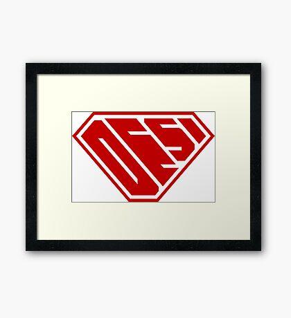 Desi SuperEmpowered (Red) Framed Art Print