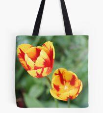 """Two Tone Tulips"" Tote Bag"