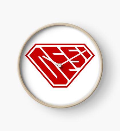 Desi SuperEmpowered (Red) Clock
