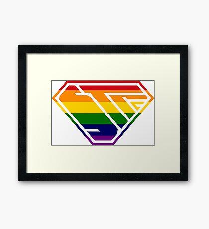 STPC SuperEmpowered (Rainbow) Framed Art Print