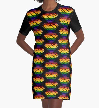 Desi SuperEmpowered (Rainbow) Graphic T-Shirt Dress