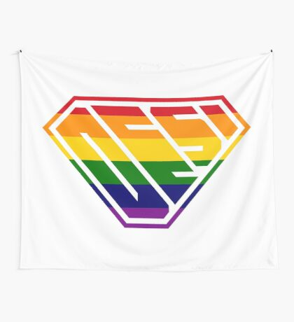 Desi SuperEmpowered (Rainbow) Wall Tapestry
