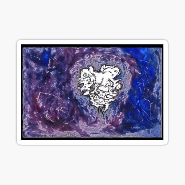 laVs2 - a dark lavendar purple abstract Sticker