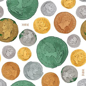 Roman Imperial Coin Pattern by flaroh