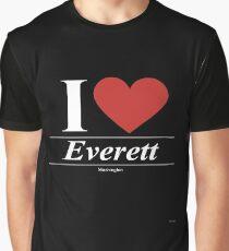 I Love  Everett - Gift for Proud Washingtonian From  Everett Washington WA  Graphic T-Shirt