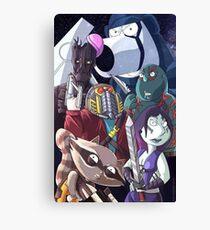 Family guy- Space scene Canvas Print