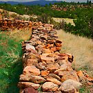 Wall at Pecos Ruins by Virginia Maguire