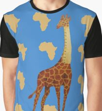 Ruler Giraffe Graphic T-Shirt