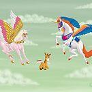Rebel Unicorn Family by Kevenn T. Smith by KevennTSmith