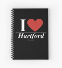 I Love  Hartford - Gift for Proud Connecticuter From  Hartford Connecticut CT  Spiral Notebook