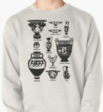 Ancient Greek Pottery Silhouette Pullover
