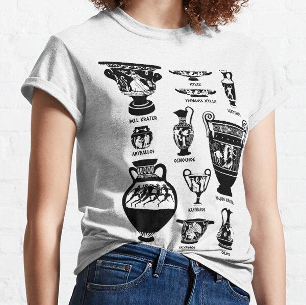 Ancient Greek Pottery Silhouette Classic T-Shirt