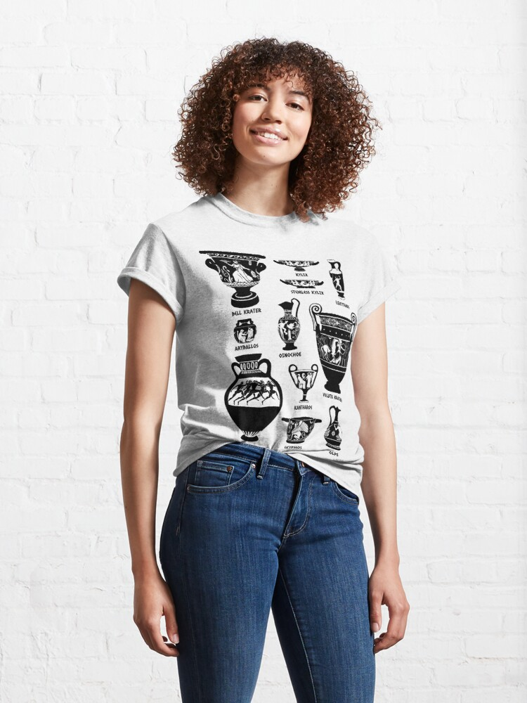 Alternate view of Ancient Greek Pottery Silhouette Classic T-Shirt