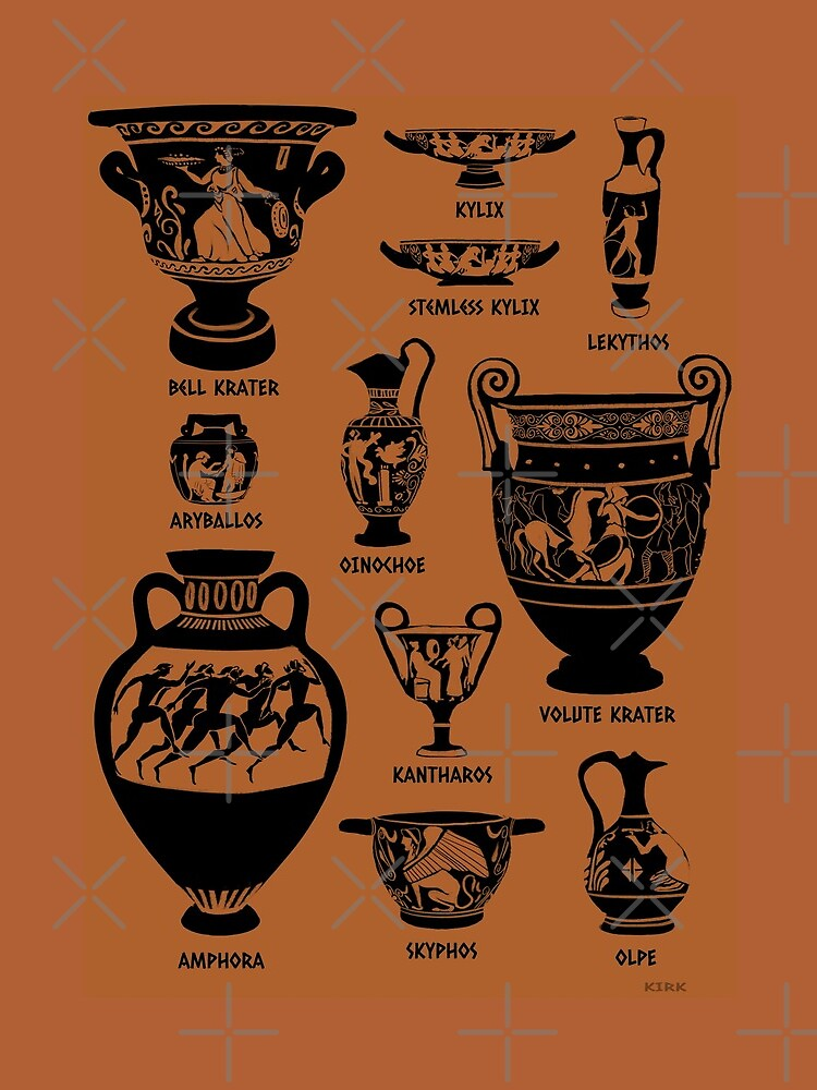 Ancient Greek Pottery Silhouette by flaroh