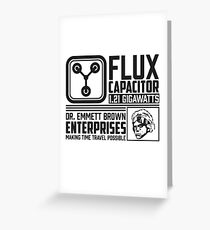 Doc Brown Enterprises Flux Capacitor  Greeting Card